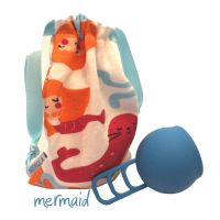 Merula Cup Menstruationstasse Mermaid blau